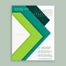 e brochure design templates green arrow style business brochure design template