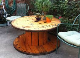 outdoor tables made out of wooden wire spools wooden spools youtube