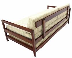 Pull Out Daybed Solid Walnut Frame Mid Century Modern Trundle Pull Out Daybed At