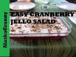 cranberry jello salad recipe easy