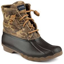 womens duck boots sale sperry s saltwater duck boot in camo country prep
