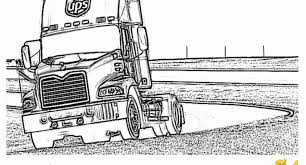 big trucks coloring page big rig truck coloring pages free 18