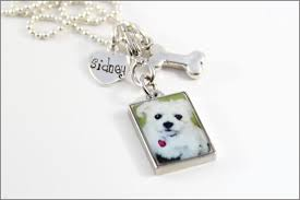 Name Charm Personalized Pet Remembrance Necklace Custom Pet Name Charm Pet