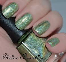 limelite lime green metallic holographic nail polish from