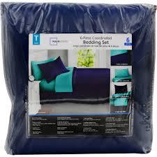 Mainstays Bedding Sets Mainstays Solid 8 Piece Bed In A Bag Bedding Set Walmart Com