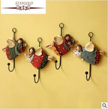 fun coat hooks fun with creative gift home decoration accessories angel resin