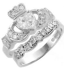 claddagh ring story claddagh ring set with heart shaped diamond