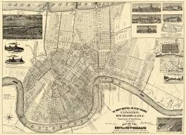 Illinois Toll Map by Old City Map New Orleans Louisiana Expositiion 1890