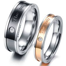 fashion couples rings images Fashion jewelry 316l stainless steel rings silver black gold trend jpg