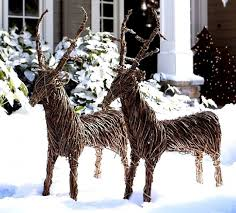 Lighted Christmas Outdoor Decorations by Christmas Outdoor Decorations Reindeer Designcorner
