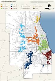Chicago Ohare Terminal Map by Freight Land Use Clusters In Northeastern Illinois Policy