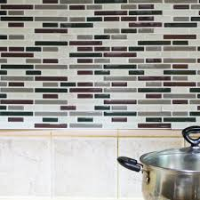 Stick On Kitchen Backsplash Kitchen Backsplash Peel And Stick Tiles Faux Subway Glossy Wall
