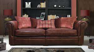 Reddish Brown Leather Sofa Classic And Aesthetic Explorer Leather Sofa Design For Home
