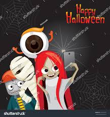 halloween ghost selfie mystery holiday culture stock vector