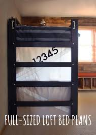 how to build a full size loft bed full sized loft bed plans now available adventures in diy
