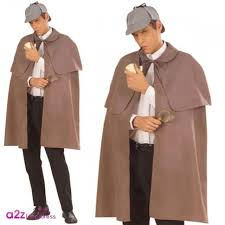 Sherlock Halloween Costumes Sherlock Holmes Detective Victorian Halloween Grey Cape