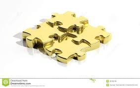 gold jigsaw puzzle pieces royalty free stock image image 38189796