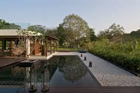 timeless contemporary house in india with courtyard zen garden