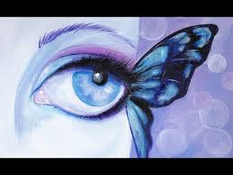 butterfly eye in acrylic paint for beginners aboutface 3 big