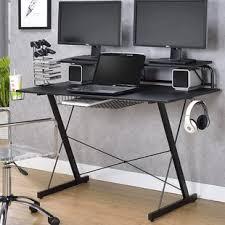 Flat Computer Desk Dual Monitor Computer Desk Wayfair