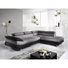canapé d angle gris tissu canapé d angle gris chiné et noir en pu et tissu esteban 5 angle à