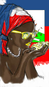 Happy Haitian Flag Day Dirtysumitch Haitian Women Are Beautiful Haiti Art Pinterest