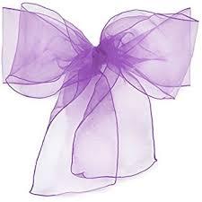purple chair sashes lann s 100 organza wedding chair sashes bows ribbons