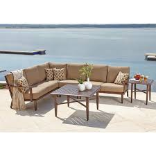 Hampton Bay Sectional Patio Furniture - seating sets costco