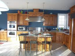 kitchen gorgeous maple kitchen cabinets and blue wall color grey