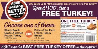 acme free turkey offer earn a free turkey ham more options