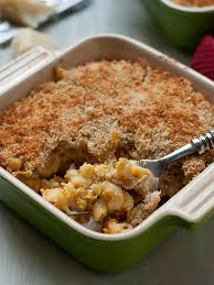 panko crusted pumpkin and goat cheese baked mac and cheese