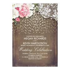 pink and gold wedding invitations pink flowers wedding invitation with burlap rustic wedding