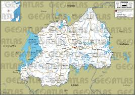 Burundi Africa Map by Geoatlas Countries Rwanda Map City Illustrator Fully
