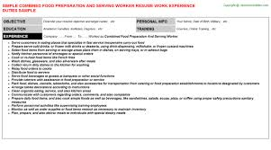 combined food preparation and serving worker job title docs