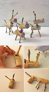 ake rudolph proud with these easy to make reindeer cork ornaments