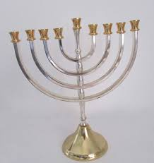 vintage menorah vintage menorah karshi menorah gold and silver by janasattic