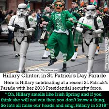 St Pattys Day Meme - hillary clinton and st patrick s day hillary clinton meme