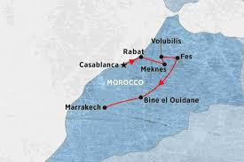 Marrakech Map World by Classic Morocco Morocco Tours Peregrine Adventures Ca