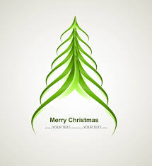 merry stylish tree colorful whit background free vector