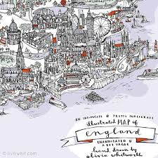 A Map Of England by Liviwhit Com Olivia Whitworth Illustration