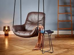 Best Leather Armchair 12 Best Ideas Of Leather Swing Chair