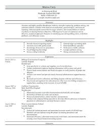bookkeeper resume sample summary bookkeeping example accounts