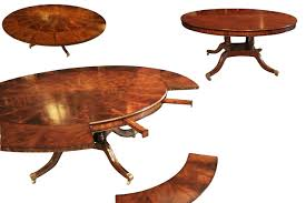 dining room table leaf slides round extension leaves pie shaped