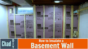 Insulating Basement Walls With Foam Board by How To Insulate A Basement Wall Youtube