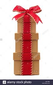 christmas gift bow stacked brown christmas gift boxes wrapped with rustic bow and