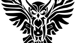 black ink tribal open wings owl tattoo design u2013 truetattoos