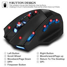 light up wireless gaming mouse amazon com zelotes f15 2500dpi wireless gaming mouse with usb