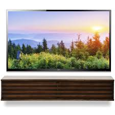 Tv Console Floating Tv Console Lotus Russet Brown Woodwaves