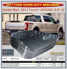 Rugged Liner Dealers Rugged Liner Under Rail Bed Liners For 2017 Ford F250 F350