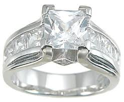 engagement rings sterling silver stunning princess cut cz engagement ring sterling silver laraso co
